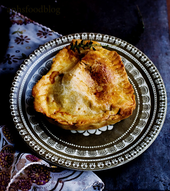 Beef pie in a buttery crust