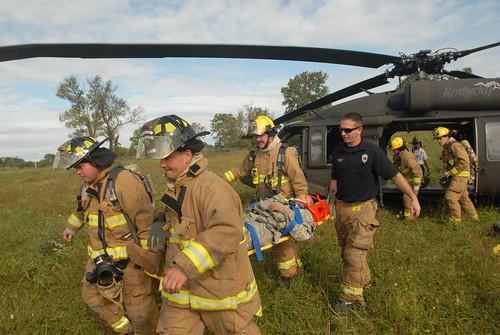 Kentucky Guard Aviators simulates aircraft exercise