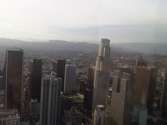 Downtown Los Angeles From A Helicopter, Looking Westward (feculent_fugue) Tags: california losangeles los angeles aerial helicopter birdseyeview