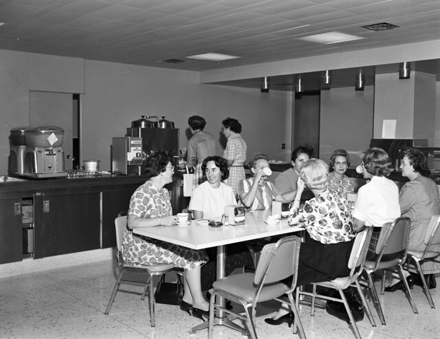 City Light employees on coffee break, 1960s