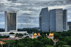 Kueh Lapis of Rochor. (Reggie Wan) Tags: city building architecture singapore asia southeastasia day cityscape mosque cbd cloudysky rochor modernbuilding highrisebuilding moderncity asiancity sonya700 sonyalpha700 reggiewan gettyimagessingaporeq1