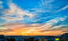 Lo spettacolo in cielo - San Julian - Malta (Sandro V-R ) Tags: sunset sky panorama colors clouds photo nikon tramonto nuvole foto blu dream quadro malta giallo cielo sharpen fx tamron cultura sandro paesaggio arancione spettacolo mondo sanjulian 2875mm the4elements d700 absolutelyperrrfect sandrovinci