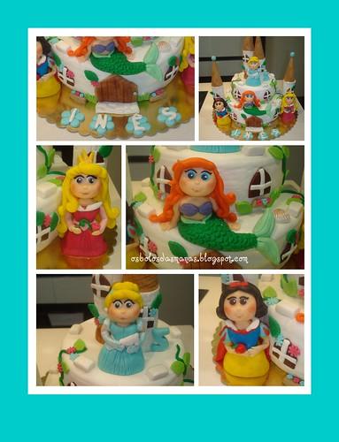 Detalhes Bolo Castelo Princesas Disney 3 by Osbolosdasmanas