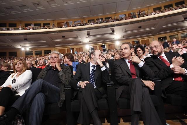 Elena Valenciano, Felipe González, Alfredo Pérez Rubalcaba y José Luis Rodríguez Zapatero / PSOE