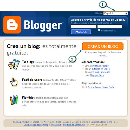 Blogger: Servicio para Creacion Gratuita de Blogs