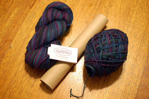 happy thing: hand-wound center-pull skein