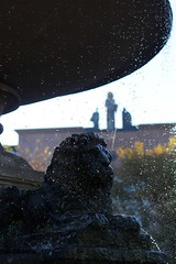 Springbrunnen auf dem Mathildenplatz (Joachim S. Müller) Tags: fountain germany deutschland moss hessen brunnen lion well darmstadt moos löwe löwen mathildenplatz sprngbrunnen amtsgerichtdarmstadt