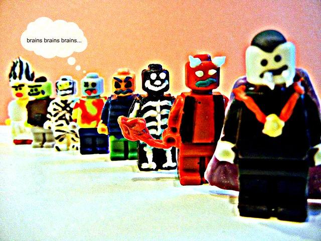halloween lego minifig