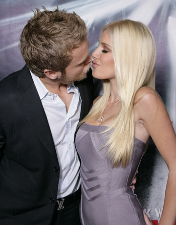 Spencer Pratt and Heidi Montag arrives on the red carpet at the