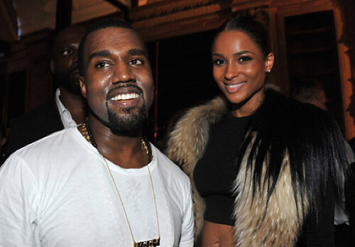 Kanye West and Ciara after the fashion show