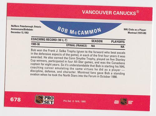 ps Bob McHammond back