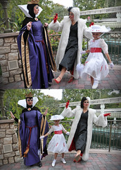 villain dance (Angelasews) Tags: disneyland disney queen marypoppins snowwhite cruelladevil villains 101dalmations evilqueen