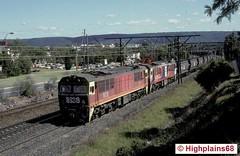 Silent ascent (highplains68) Tags: railroad electric train 35mm sydney rail railway loco australia slidefilm nsw newsouthwales coal aus penrith kodachrome64 sra 8639 kingswoodbank