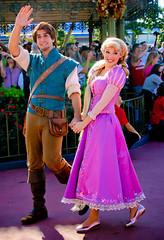 Rapunzel and Flynn Rider (abelle2) Tags: princess disney disneyworld wdw waltdisneyworld rapunzel magickingdom flynn tangled disneyprincess flynnrider princessrapunzel