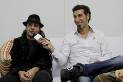 System Of A Down no camarim (rockinriooficial) Tags: show festival interview systemofadown entrevista soad cidadedorock rockinrio