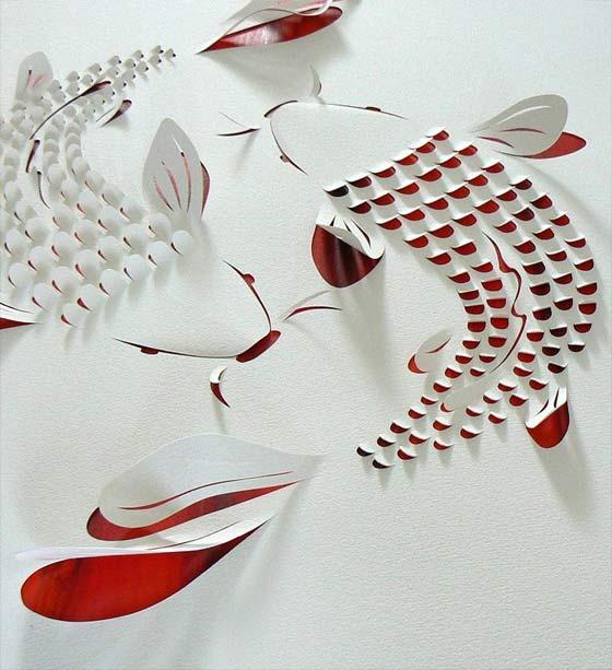 papel con cortes y dobleces