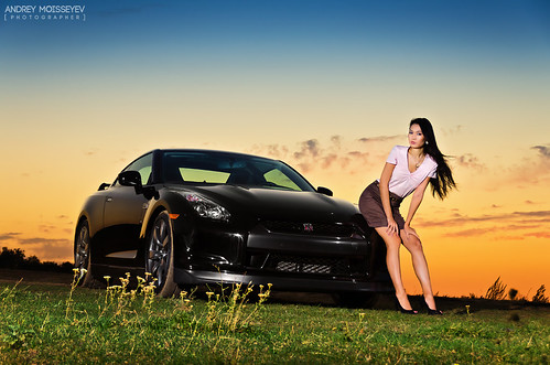 black nissan gtr and the girl - a photo on flickriver