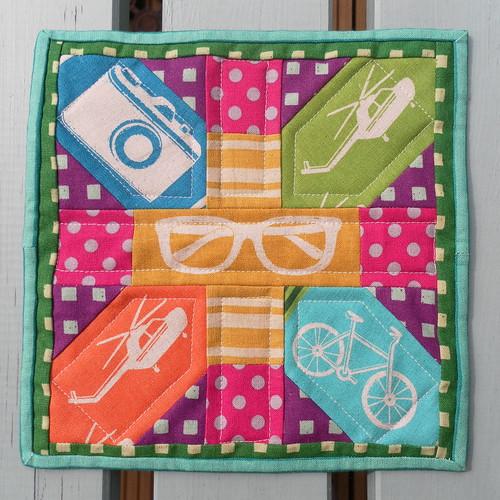 Echino - x&+ Mug rug front