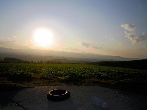 落陽~就実の丘風景