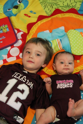 Maroon babies on the floor
