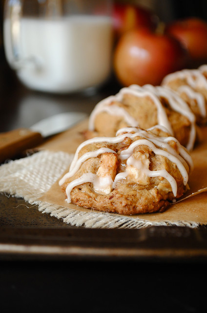 Apple Cinnamon Cookies with a Maple Cinnamon Glaze