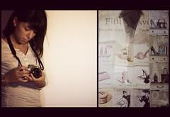 (AilAr S) Tags: camera me girl self canon vintage moda nostalgia 400d