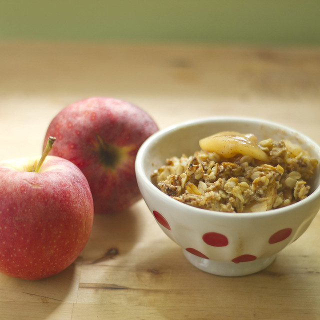 apple groat crumble
