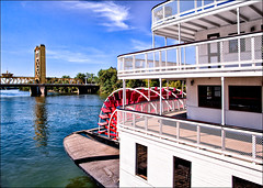 Up a lazy river with me... (CharsShots) Tags: california towerbridge 6ws sacramento sacramentoriver floatinghotel deltakingriverboat soundtrackmonday goodfoodalwaystastesbetterwithgoodfriends riverboatpaddleboat