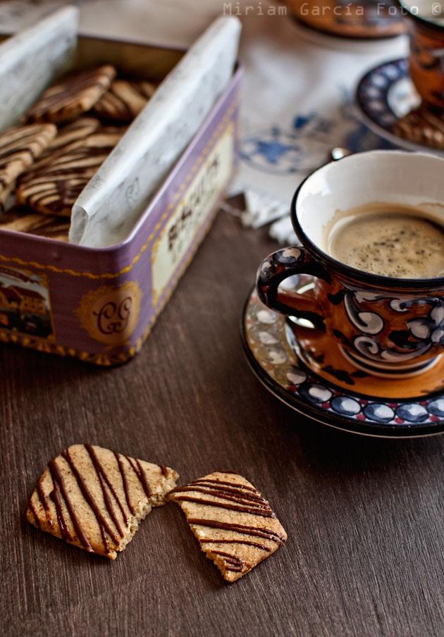 Shortbread avellanas y café