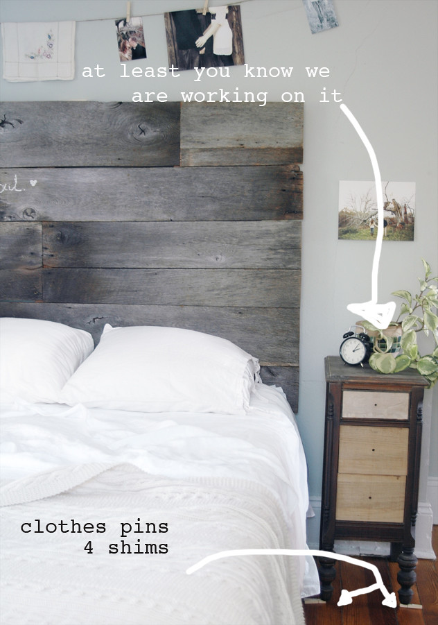 Diy Barn Wood Headboard Part Three Installed