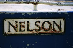 Nelson (Petra2079) Tags: old blue sign boat rusty nelson
