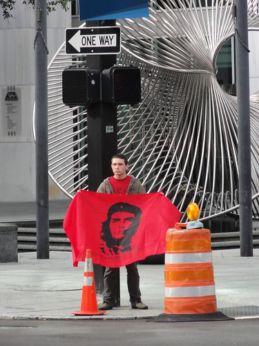 Man with Che flag