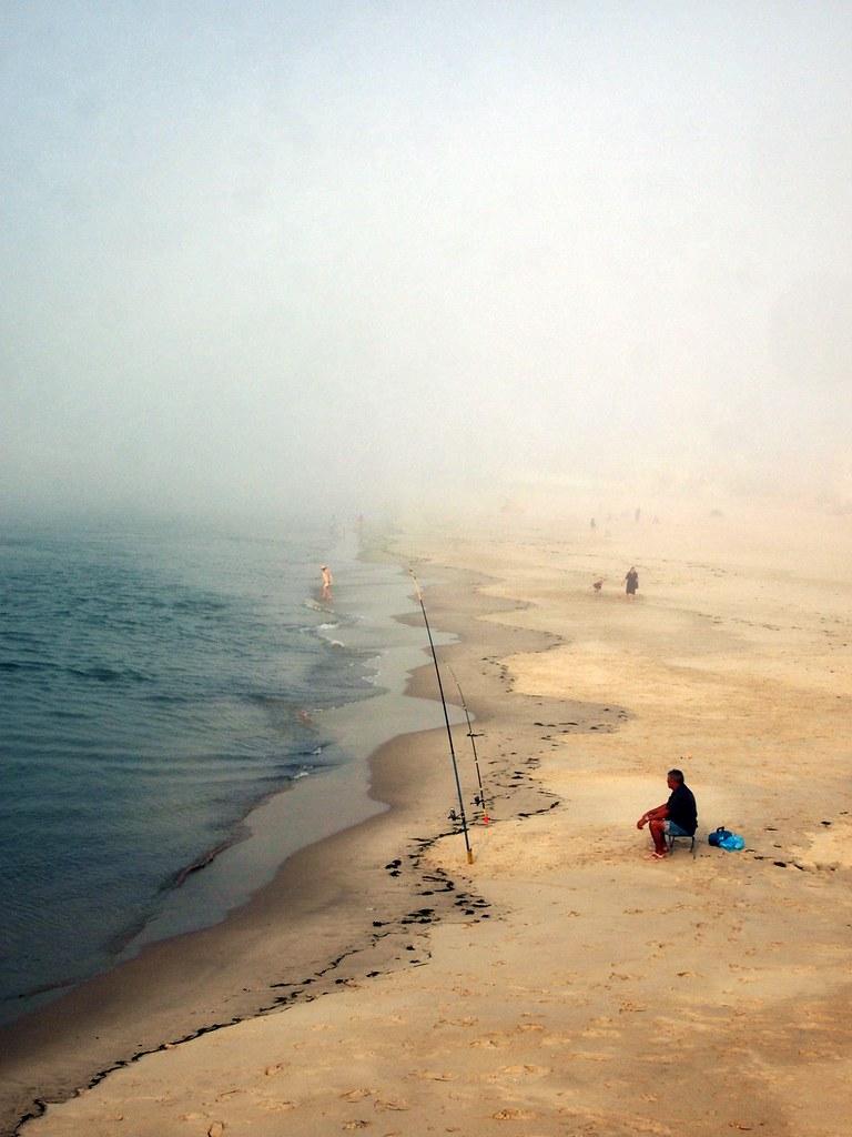 praia em outubro