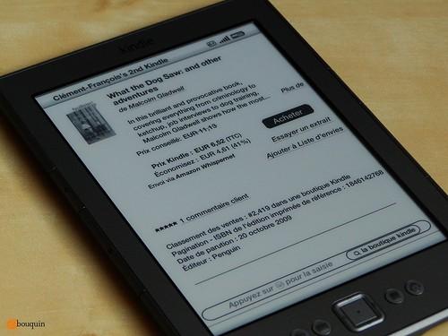 Kindle Store - Fiche produit