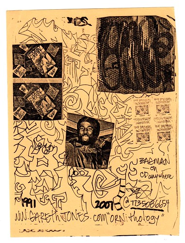 Thig flier from 2001 (fotoflow / Oscar Arriola) Tags: old usa chicago america vintage design us illinois flyer hand drawing united il ephemera mc american hiphop states drawn rapper sharkula thig flier