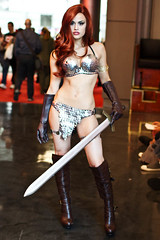 NYCC (Anna Fischer) Tags: costumes red newyork anime comics costume comic cosplay hero comicbook cosplayer sonya fest con redsonja nycc nyaf