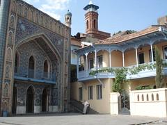 Georgia 2008 (Yekkes) Tags: georgia ceramic mosaic balcony minaret tiles baths caucasus tbilisi georgianhouses sulphurbaths