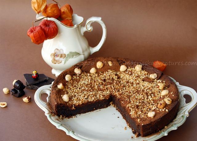 ricetta con foto Torta cremosa al cioccolato fondente