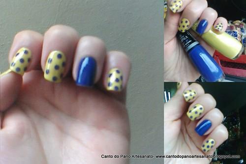 Bolinhas com o Azul aviador da Impala e Caja Manga também da Impala. by Ana Canto