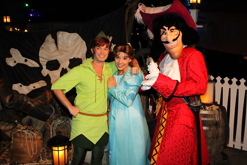Peter Pan, Wendy and Captain Hook