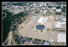 Mississippi Coliseum, Jackson (SkylineScenes (Bill Cobb)) Tags: city mississippi downtown aerial jackson coliseum