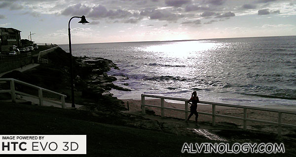 Early morning Bondi jogger