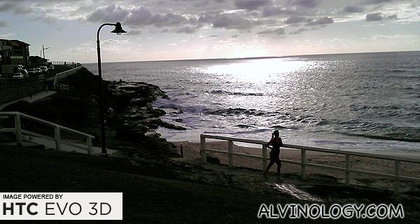 Early morning Bondi jogger