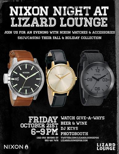 Nixon Night @ Lizard Lounge