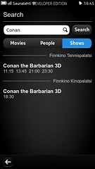 Search movie showtimes