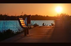 The Dawning of a New Day (pixelmama) Tags: dedication wisconsin sunrise bench freedom harbor pier remember shadows 911 lakemichigan neverforget doorcounty sunbeams hss 10thanniversary baileysharbor chasinglight pixelmama sliderssunday thedawningofanewday