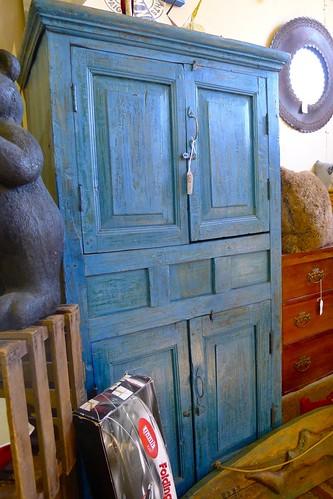 Blue vintage cabinet