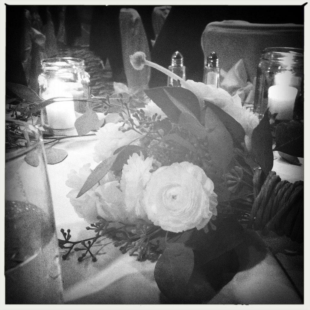 bouquet on our sweetheart table