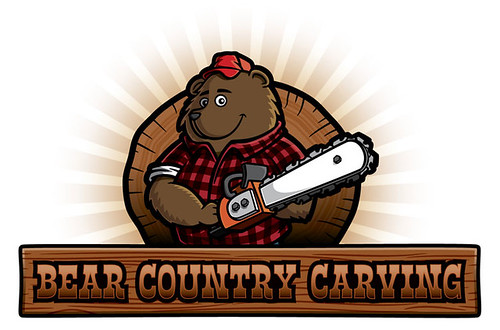 Lumberjack Bear Logo — Bear Country Carving