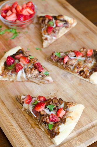 Balsamic Strawberry Pizza